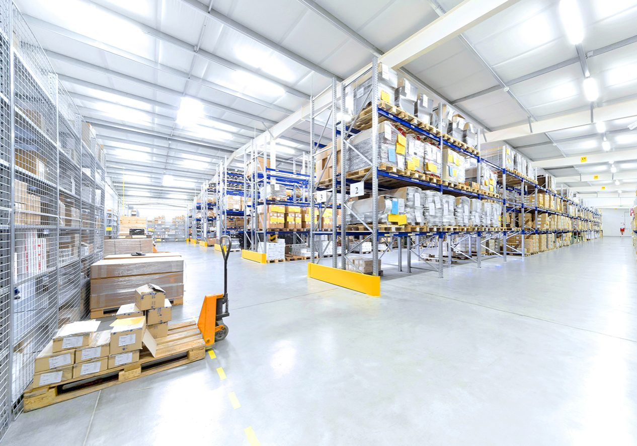 warehouse interior; Shutterstock ID 142333744
